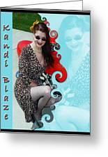 Kandi Blaze Poster 1 Greeting Card