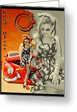 Kandi Blaze Poster 4 Greeting Card