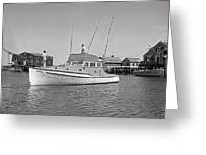 Kandy Of Barnstable Harbor 1950's Greeting Card