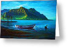 Kaneohe Bay Early Morn Greeting Card by Joseph   Ruff