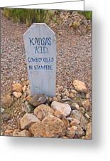 Kansa Kid Killed In A Stampede Greeting Card