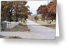 Kansan Gravel Road Greeting Card
