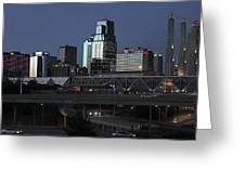 Kansas City At Dusk Greeting Card by Patricio Lazen
