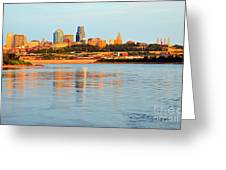 Kansas City Downtown From Kaw Point Greeting Card