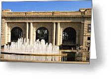 Kansas City Fountain At Union Station Greeting Card