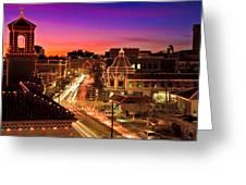 Kansas City Plaza Christmas Lights Skyline Greeting Card