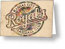 Kansas City Royals Logo Vintage Greeting Card