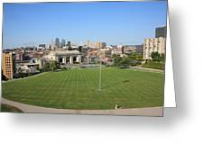 Kansas City Skyline And Park Greeting Card