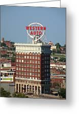 Kansas City - Western Auto Building 2 Greeting Card