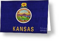 Kansas State Flag Greeting Card by Pixel Chimp