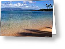 Kapalua Bay Maui Greeting Card