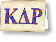 Kappa Delta Rho - Parchment Greeting Card