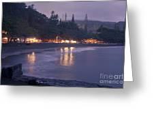Kapueokahi - Hana Bay - Sunset Hana Maui Hawaii Greeting Card