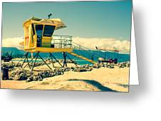 Kapukaulua Beach Lifeguard Station Paia Maui Hawaii  Greeting Card