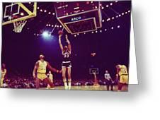 Kareem Jump Shot Greeting Card