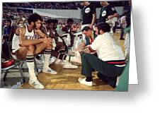 Kareem Abdul Jabbar Resting Greeting Card by Retro Images Archive