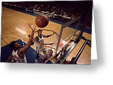 Kareem Abdul Jabbar Tip In Greeting Card by Retro Images Archive