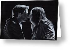 Karen Gillan And Arthur Darvill Greeting Card by Rosalinda Markle
