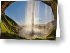 Karen's Waterfalls Greeting Card