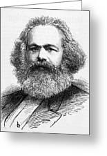 Karl Marx  German Radical Political Greeting Card