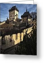 Karlstejn Castle Color Greeting Card