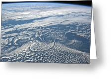 Karman Vortex Cloud Streets From Space Greeting Card
