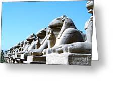 Karnak Temple Statue 14 Greeting Card