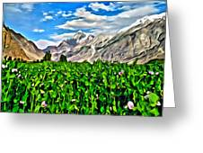 Kashmir Field Greeting Card