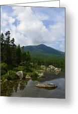Katahdin From Sandy Stream Pond Greeting Card
