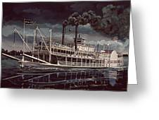 Spread Eagle Steamboat Night Greeting Card