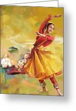 Kathak Dance Greeting Card