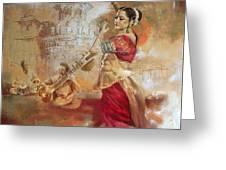 Kathak Dancer 8 Greeting Card
