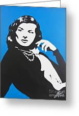 Katharine Hepburn  Greeting Card by Juan Molina