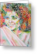 Kathleen Battle - Watercolor Portrait Greeting Card