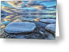 Kathleen Lake And Mount Worthington Greeting Card