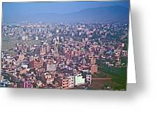 Kathmandu From The Airplane-nepal  Greeting Card