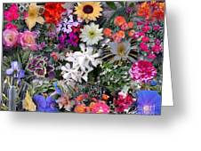 Kathy's Flowers Collage Greeting Card