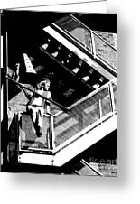 Katie-fire Escape Greeting Card