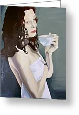 Katie - Morning Cup Of Tea Greeting Card