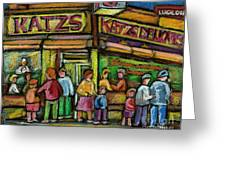 Katz's Deli Greeting Card
