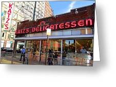 Katz's Delicatessan Greeting Card