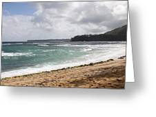 Kauai Shore Looking South Greeting Card