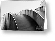 Kauffman Center Black And White Curves Photography Greeting Card