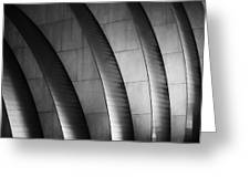 Kauffman Performing Arts Center Black And White Greeting Card
