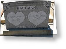 Kaufman Grave No Greater Love Greeting Card