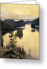 Kaukola Ridge At Sunset Greeting Card
