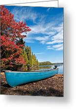 Kayak Boat During Sunny Day  Greeting Card