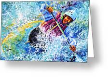Kayak Crush Greeting Card by Hanne Lore Koehler