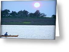 Kayak Fishing 1 Greeting Card