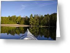 Kayak On Calm Lake Greeting Card